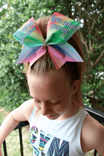 Do What You Love Cheer Bow