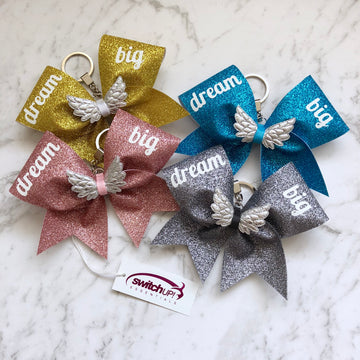Dream Big Keyring - Switch Up! Essentials - Cheer Bows