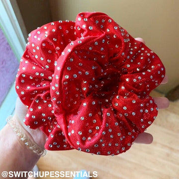 Rhinestone Colour Scrunchie Scattered Design - Switch Up! Essentials - Cheer Bows