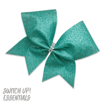 Jade (teal) Glitter Cheer Bow