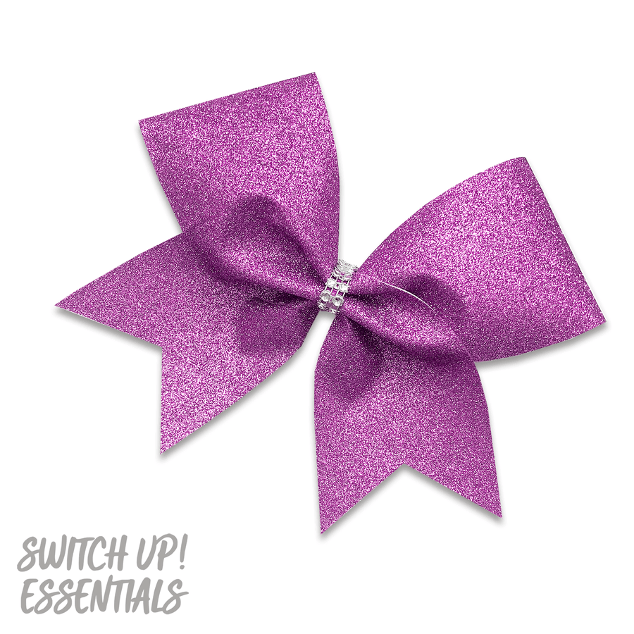 Lilac Glitter Cheer Bow