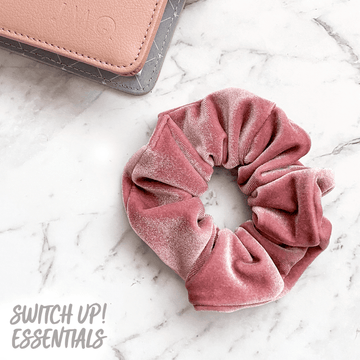 Dusty Pink Velvet Scrunchie