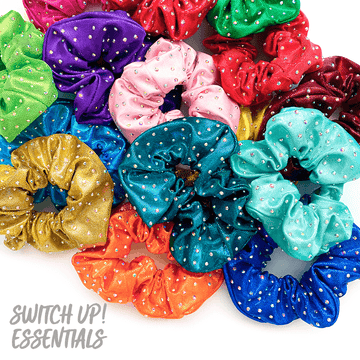 Medium Scatter Rhinestone Scrunchie