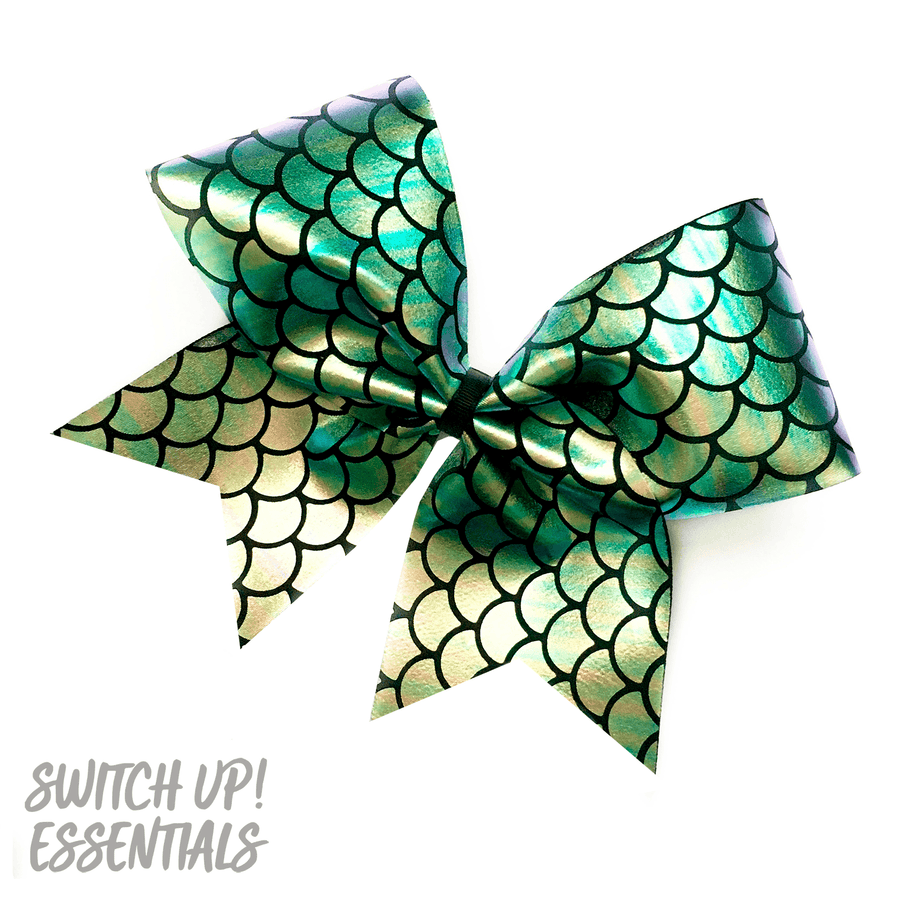 Mermaid Scale Cheer Bow