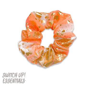 Orange & Gold Splatter Scrunchie