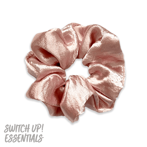 Pebble Satin Colour Scrunchie