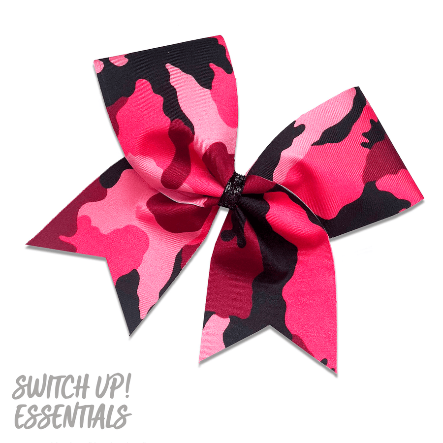 Pink Camo Cheer Bow