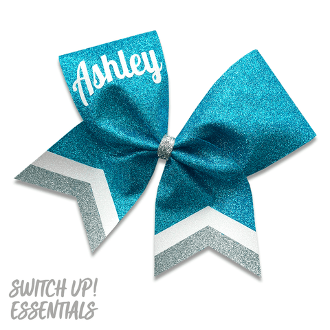 Preppy - Personalised Glitter Cheer Bow