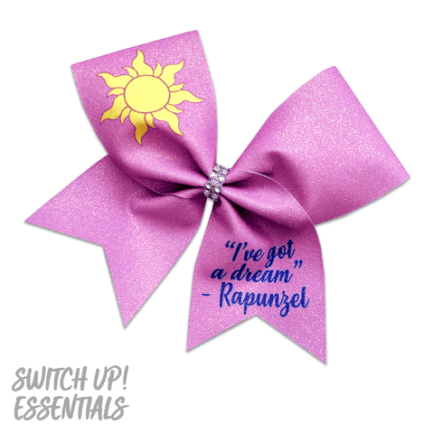Tangled Inspired Cheer Bow
