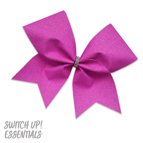Ultra Violet Purple Glitter Cheer Bow