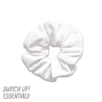 White Velvet Scrunchie