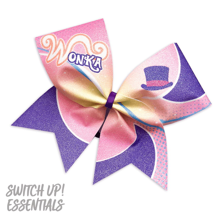 Willy Wonka Cheer Bow