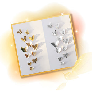 Transform Your Wall With a Dozen Butterflies. 3D Paper Pretties in Gold and Silver - Garden Gift Hub