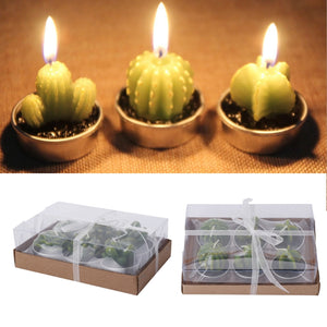 12 Decorative and Useful Cactus Tealight Candles - Garden Gift Hub