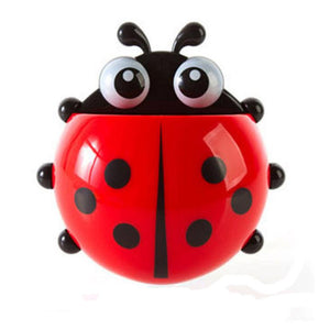 Ladybug Stick-on Suction Toothbrush and Toothpaste Holder - Garden Gift Hub