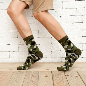 3 Pairs Camouflage Jungle Men's or Women's Socks - Garden Gift Hub