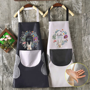 Smart Apron Waterproof, Wipeable for Kitchen and Garden