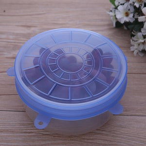 6 Silicone Suction Stretch Bowl Cover Lids.  Keep Your Produce Safe and Fresh - Garden Gift Hub