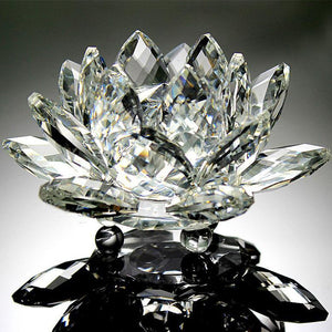 Oh look A Real Beauty! Quartz Crystal Lotus Flower Paperweight or Ornament - Garden Gift Hub