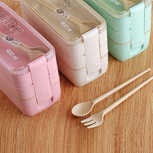 Just What You Need. Natural Wheat Straw Bento Storage Containers - Garden Gift Hub