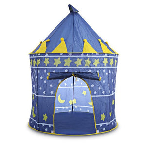 Children's Foldable, Portable Castle Tent. Fun Teepee Cubby Playhouse for Kids Outdoor and Indoor Play - Garden Gift Hub