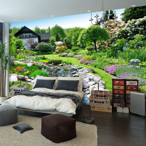 Nature's background. Large Garden Mural Wallpaper - Garden Gift Hub