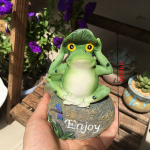 Froggie Fun in Your Garden. Three Cute Decorative Garden Frogs - Garden Gift Hub