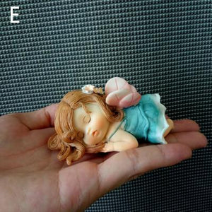 Cute-as-cute Fairy Angels, Sleeping Elves, Snails and Mini Baby Figurine Dolls - Garden Gift Hub