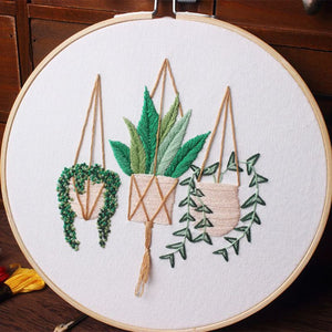 Floral Embroidery Kit for DIYers - Garden Gift Hub