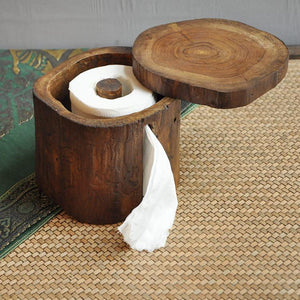 Wooden Eco-Friendly Toilet Roll Holder.  So Nice, So Natural - Garden Gift Hub