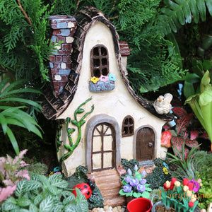 Large Rustic Fairy House. Miniature Garden Woodland Villa