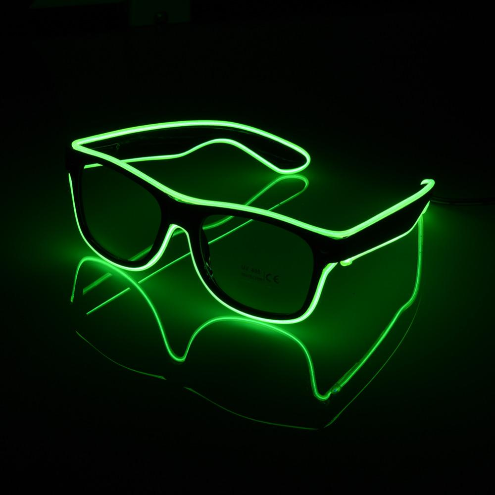 LED Flashing Light-Up Glow Blinking Party Glasses Butterfly *Green* SALE !!!