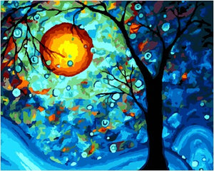 Popular Moonlight Painting by Numbers DIY Canvas - Garden Gift Hub