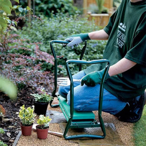 GARDEN KNEELER & SEAT WITH TOOL BAG