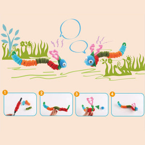 Hello Sunshine! Make Flowers, Insects, Animals with 100 Colorful Chenille DIY Montessori Craft Pipe Sticks - Garden Gift Hub