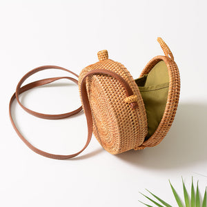 Summertime! Handmade Cross Body Rattan Straw Bags for Women - Garden Gift Hub