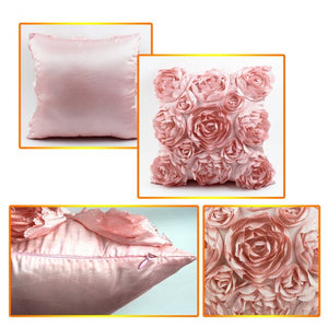 Too cute. Embroidered Classic Roses Cushion Cover - Garden Gift Hub