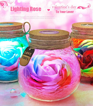 A Touch of Class! Rose Light Bottle - Garden Gift Hub