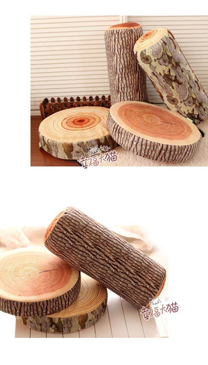 Very Comfortable Novelty Tree Logs And Fruits Soft Cushions - Garden Gift Hub