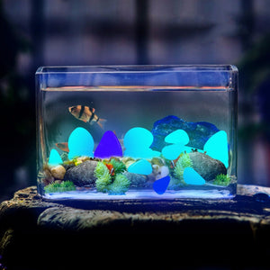 Wow, Luminous Glowing Pebbles.  These Stones Glow In The Dark In Your Garden - Garden Gift Hub