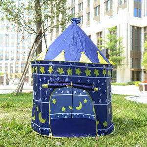 Children's Foldable, Portable Castle Tent. Fun Teepee Cubby Playhouse for Kids Outdoor and Indoor Play