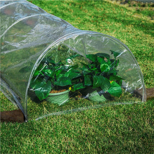 Popular Handy Mini Garden Greenhouse 5 meters Length with 7 Steel Wire Hoops - Garden Gift Hub