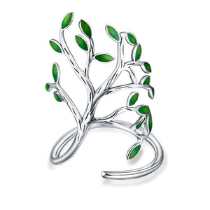 New Novel Olive Tree Green Leaf Gold or Silver Color Jewelry Ring for Women and Girls - Garden Gift Hub