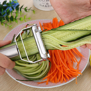 High Class Stainless Steel Julienne Multifunction Vegetable Peeler and Grater - Garden Gift Hub