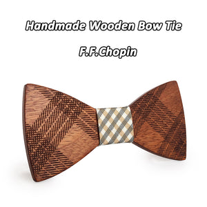 Yes, Bow Ties are back! Butterfly Style Wood Bow Ties In A Range Of Colors for Men - Garden Gift Hub