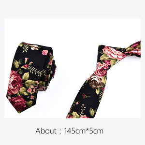 Men's Designer Rose Flower Pocket Handkerchief, Butterfly Bow Tie & Neck Tie Set - Garden Gift Hub