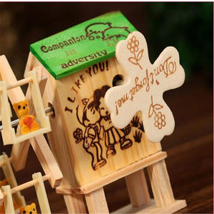 Creative Wooden Crafted Garden Windmill Music Box - Garden Gift Hub