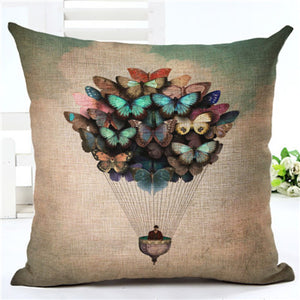 We are all for luxurious linen cushion covers with butterflies - Garden Gift Hub
