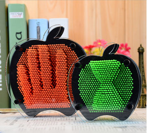 It's a Kinda Apple, Kinda Anything You Like! Apple-Shaped 3D Plastic Pin Sculpture is Unique - Garden Gift Hub