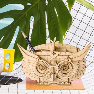 Robotime Owl DIY Wooden Puzzle Pot -Too-whit Too-whoo. - Garden Gift Hub